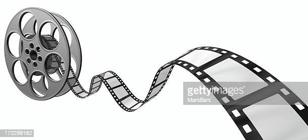 3d filmstrip on white, with reel