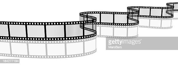 3d filmstrip with reflection