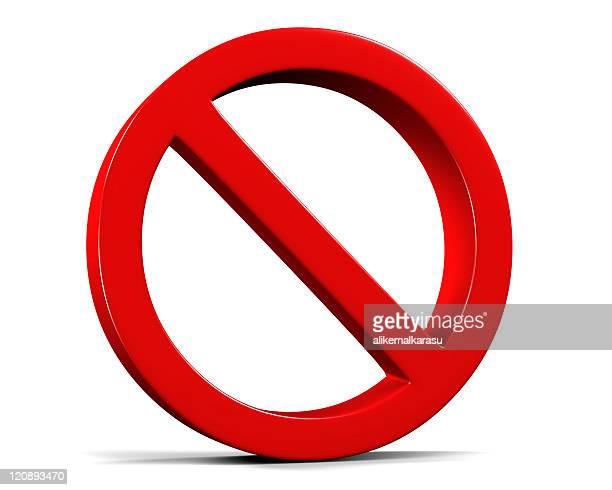 3 d placa de proibido em branco - proibido - fotografias e filmes do acervo