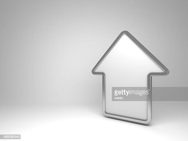 3d house white symbol - home icon stock photos and pictures