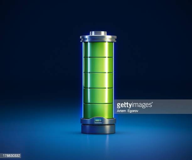 3d illustration of a powerfull battery
