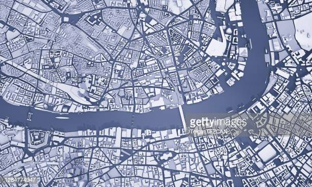 3d map of london - london stock pictures, royalty-free photos & images