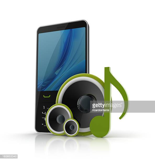 3d mobile phone with speakers