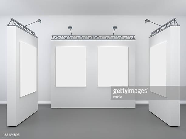 3d modern exhibition space
