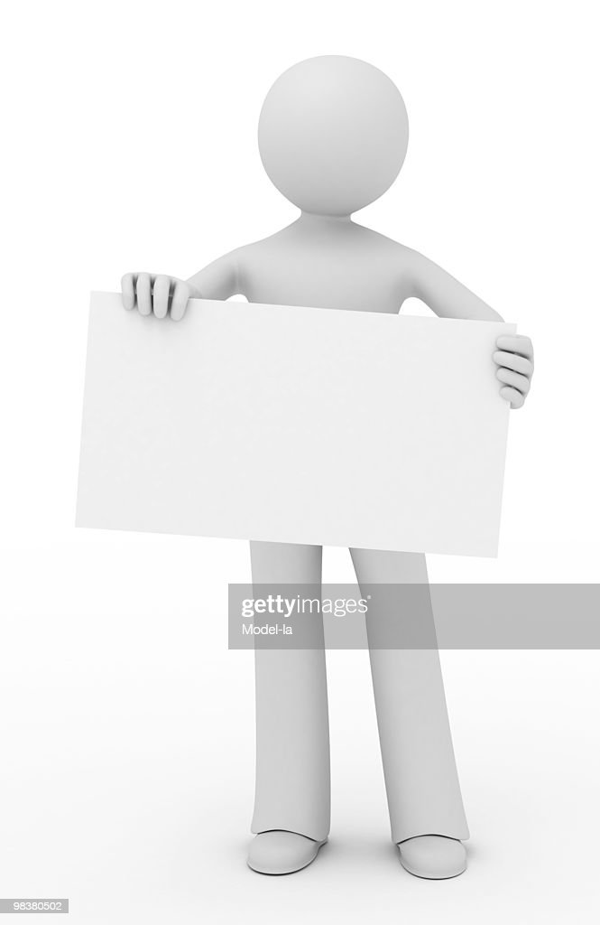 Man in suit arm outstretched holding blank business card stock photo 3d person showing a blank business card stock photo colourmoves