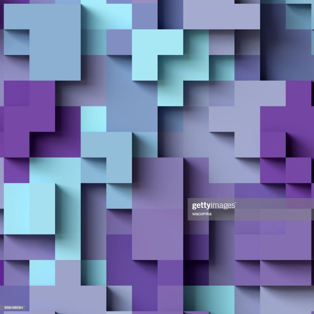 3d Render Abstrakten Geometrischen Hintergrund Bunte