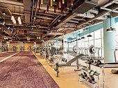 3d render gym fitness center
