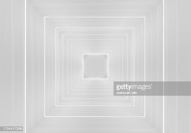 3d render tunnel background - sterk perspectief stockfoto's en -beelden
