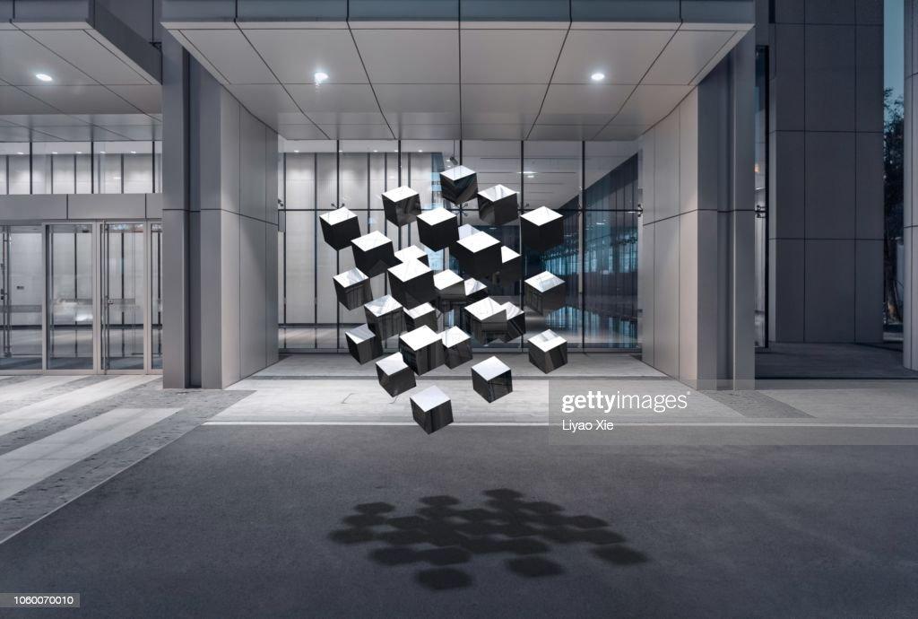 3d rendered blocks : Stock Photo