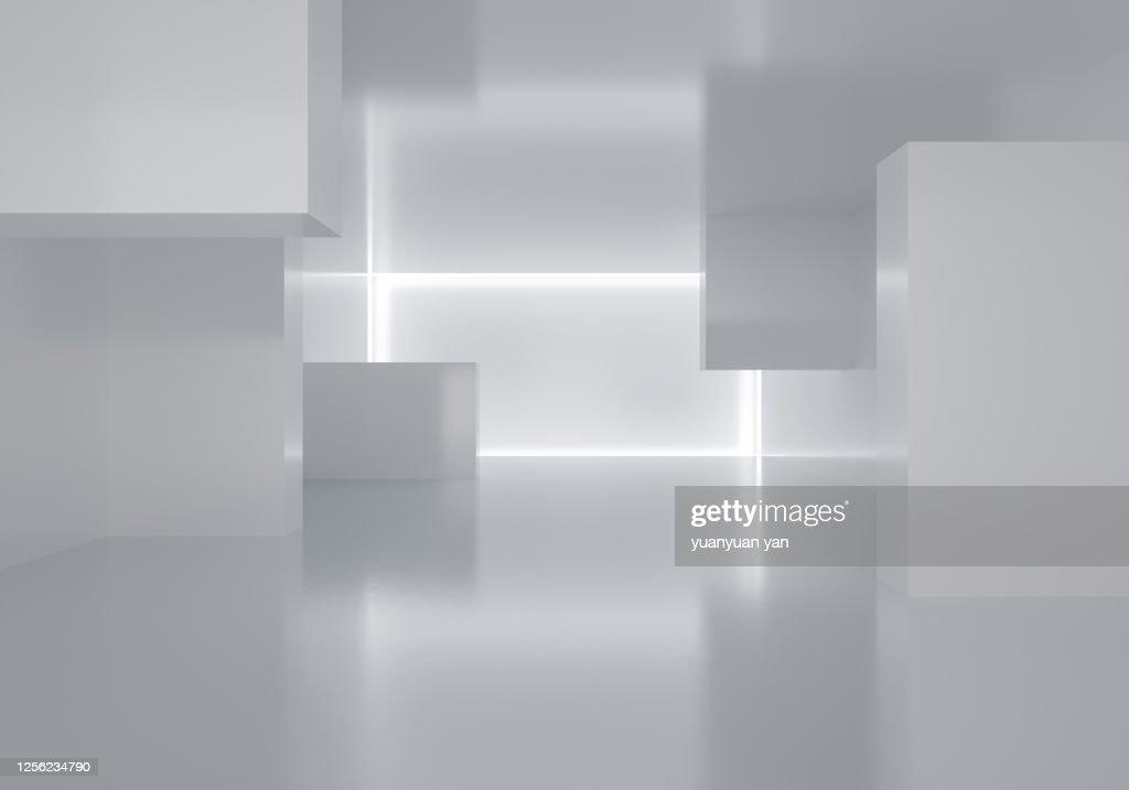 3d rendering indoor exhibition background : ストックフォト