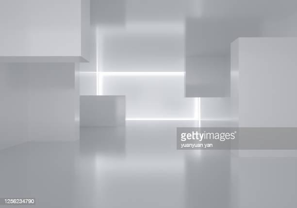 3d rendering indoor exhibition background - textfreiraum stock-fotos und bilder