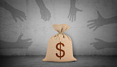 https://www.istockphoto.com/photo/3d-rendering-of-a-brown-money-bag-with-a-dollar-sign-stands-on-concrete-background-gm874899472-244273107