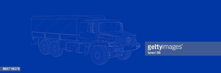 3d rendering of a truck on a blue background blueprint stock photo 3d rendering of a truck on a blue background blueprint stock photo getty images malvernweather Gallery