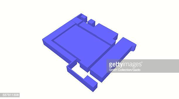 3d rendering of floorplan for Engineering Building IV on the campus of the University of California Los Angeles site of alleged shooting of Professor...