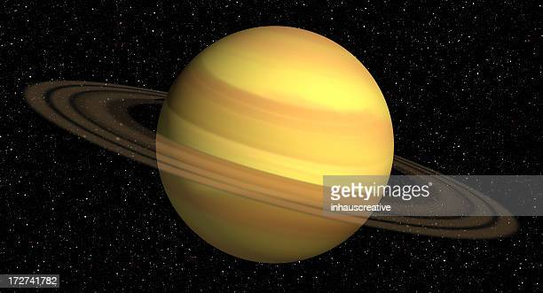 3d Rendering of Saturn