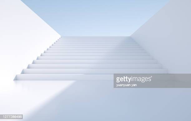 3d rendering staircase background - the way forward stock pictures, royalty-free photos & images