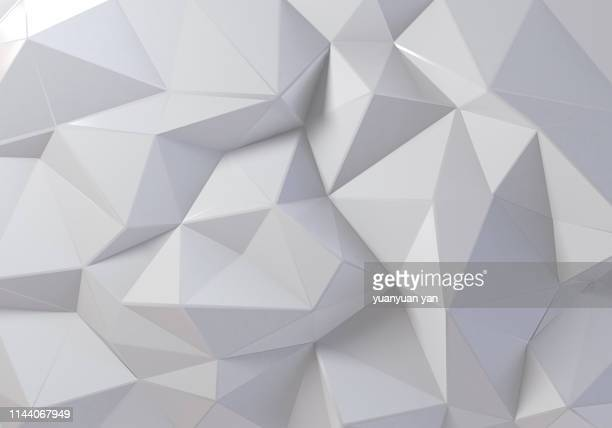 3d rendering white background - geometrische form stock-fotos und bilder