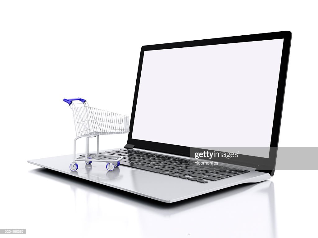 3d shopping cart online shopping concept stock photo getty images