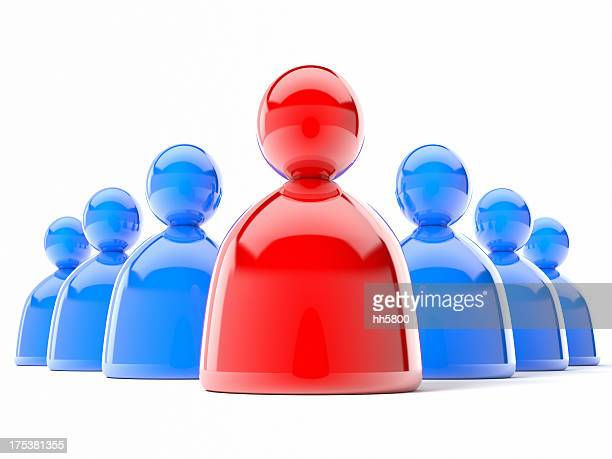 3d team people icon - people icons stock pictures, royalty-free photos & images