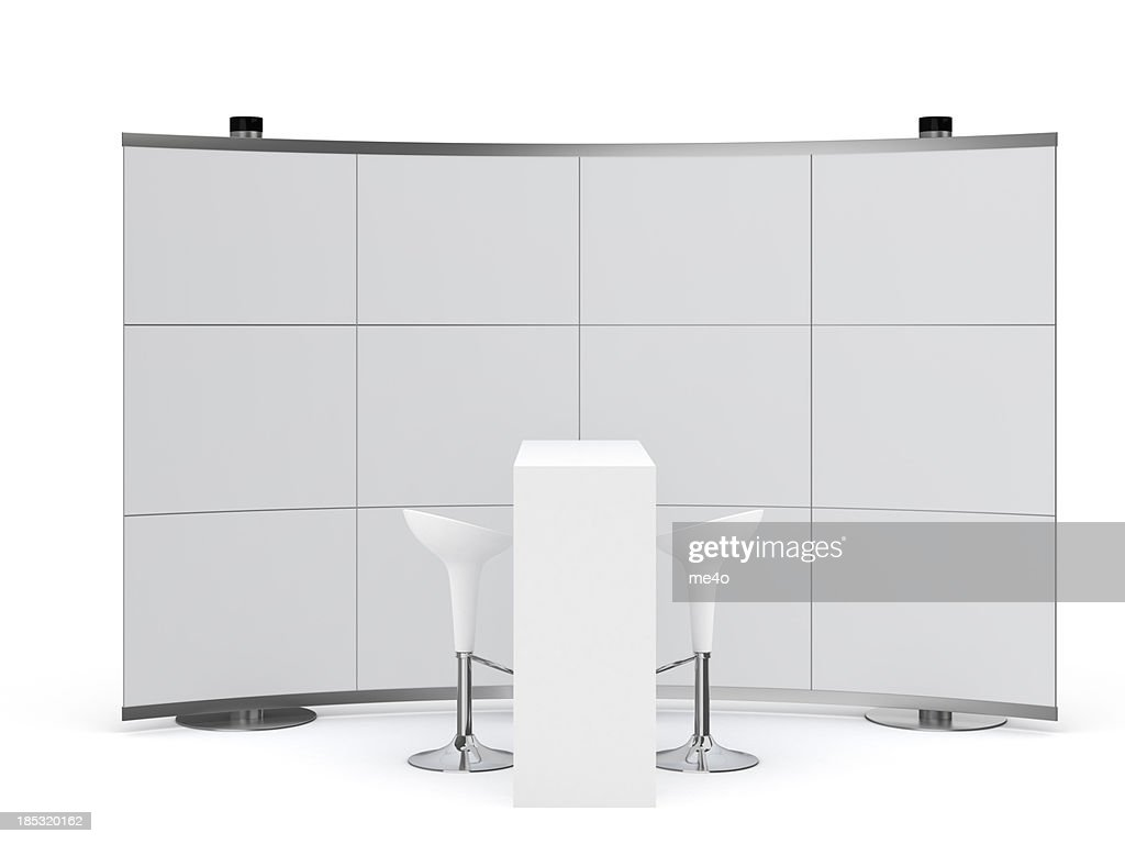 3d Trade Advertising Stand : Stock Photo