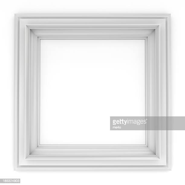 3d white classical frame