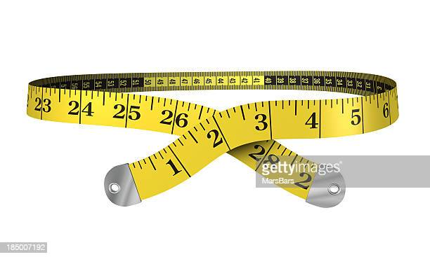 3d yellow measuring tape