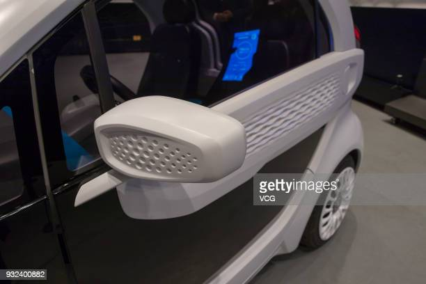 A 3Dprinted lowspeed electric vehicle is on display at China 3Dprinting Cultural Museum on March 15 2018 in Shanghai China The LSEV electric car was...