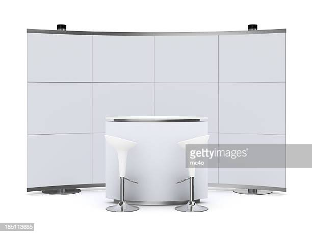 3dTrade Advertising Stand with counter
