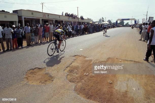 3eme Tour International du Cameroun 8eme étape Madoumba Mbalmayo Arrivée de l'étape à Mbalmayo Kazuya Okazaki