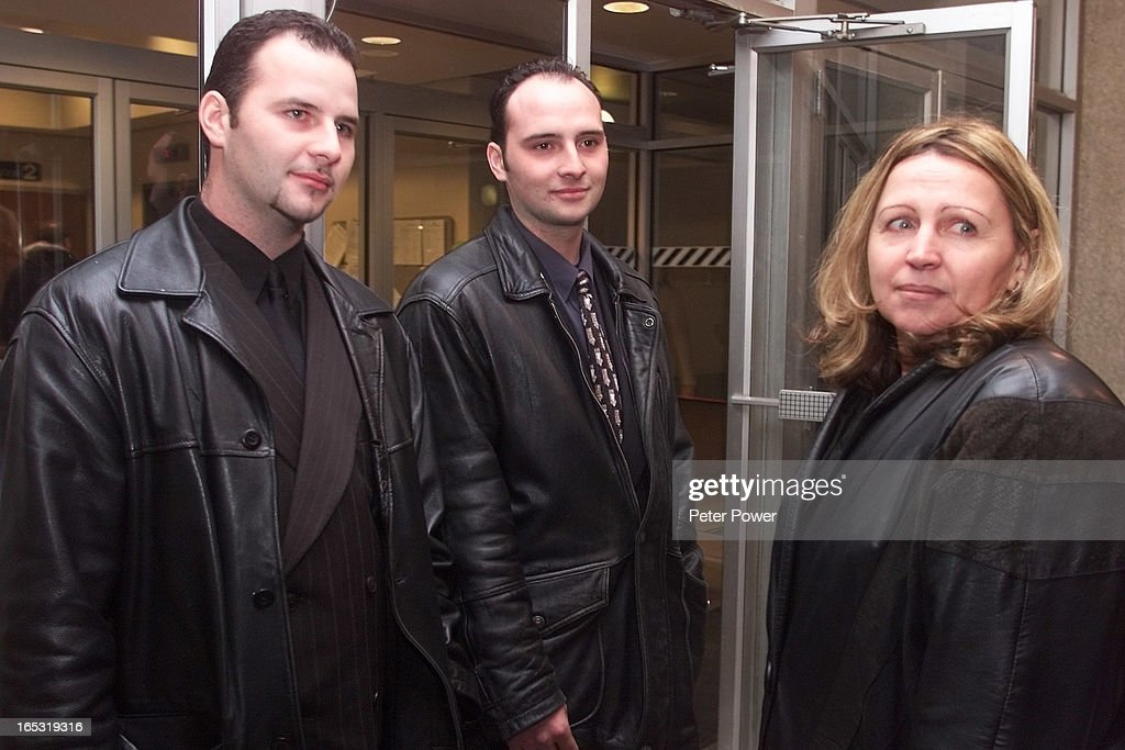 Enzo left Rocco and their mom Linda Romagnuolo standing outside the doors  sc 1 st  Getty Images & DIGITAL IMAGE-12/18/00-ROMAGNUOLO TRIAL 3-Enzo left Rocco and ...