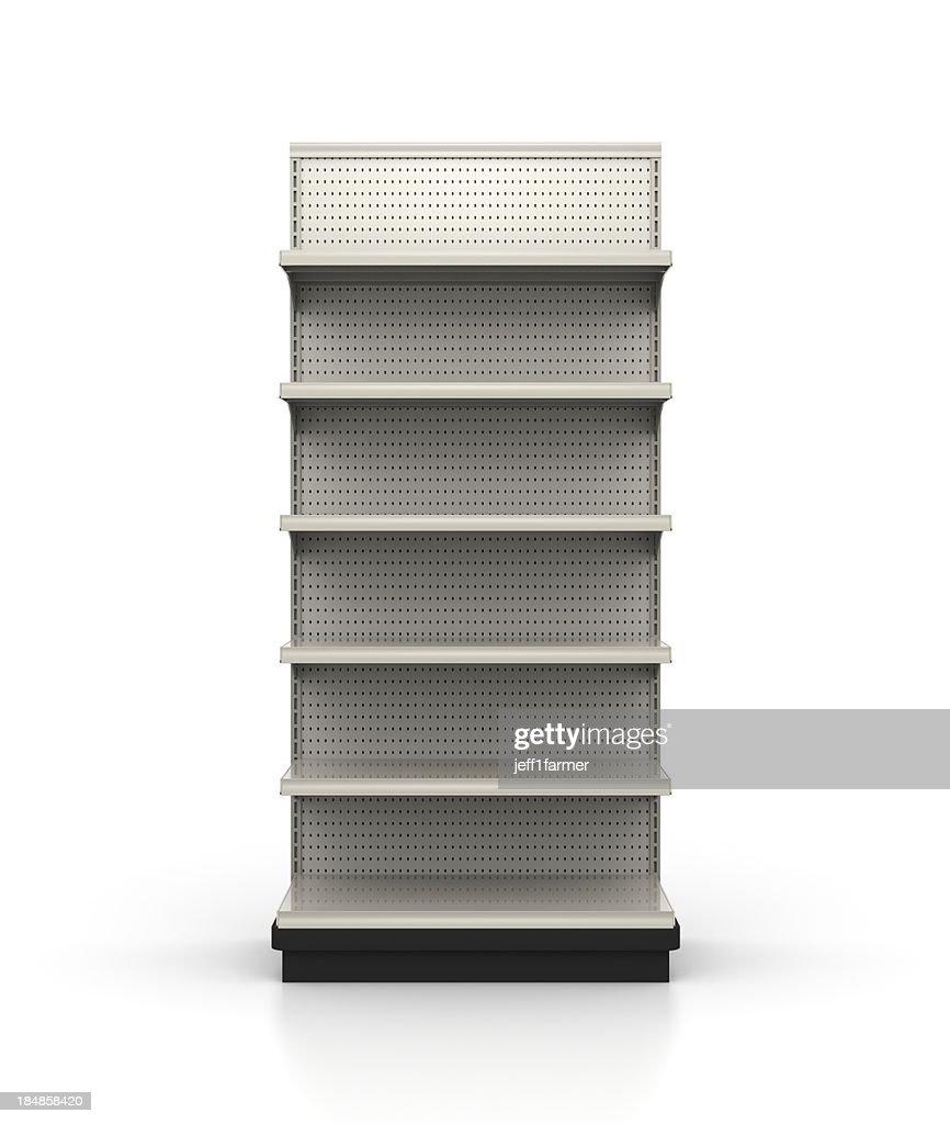 3ft Wide Endcap - Store Shelves : Stock Photo
