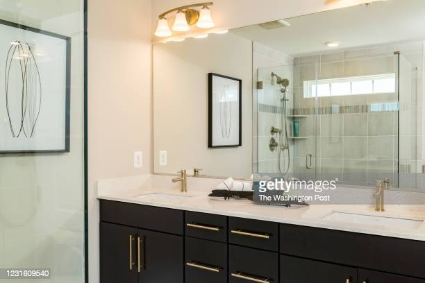 Master Bath in the Taylor Model Condominium at Parkside Condos on March 3, 2021 in Hanover Maryland.