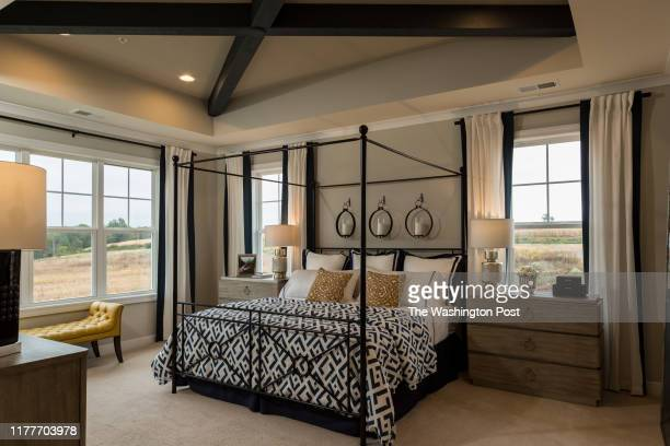 Master Bedroom in the Model home by Wormald at Landsdale on October 3 2019 in Monrovia Maryland