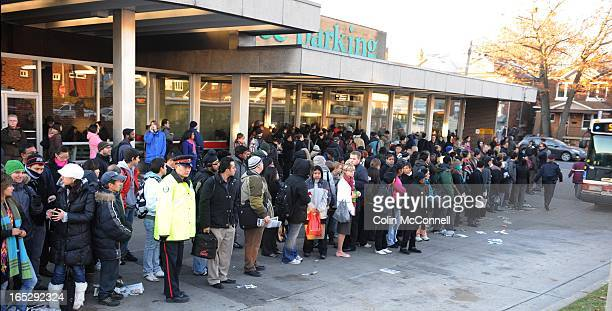 NOV 3rd 2010pics of thousands of commuters along the danforth subway line were upset today aas a water main broke aat greenwood and shuttle buses had...