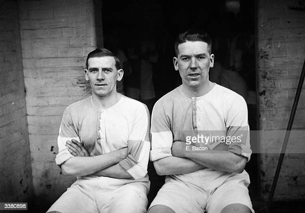 Blackburn Rovers Football Club players T McLean and T Mitchell
