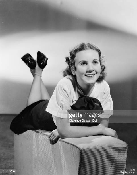 Child star Deanna Durbin at an MGM photo session for the short 'Every Sunday' costarring Judy Garland and directed by Felix E Feist for MGM By the...