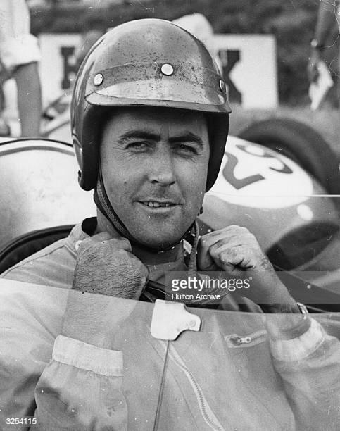 Jack Brabham motor racing driver at Brands Hatch
