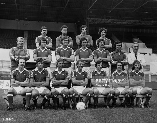 The Bristol City football team Donnie Gillies Ray Cashley John Shaw and Clive Whitehead Alan Dicks Paul Cheesley David Rodgers Tony Richie Gary...