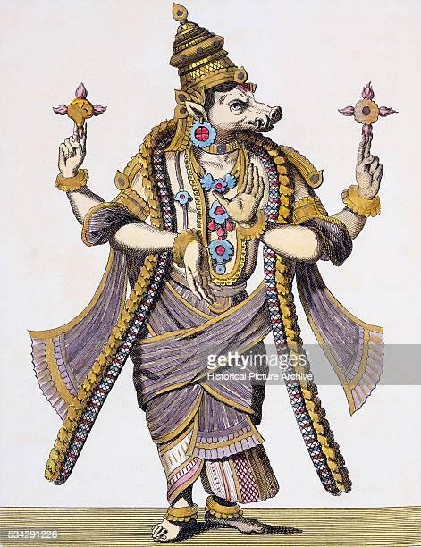 VISHNU 3rd Avatar as VARAHAVATERA the Wild Boar