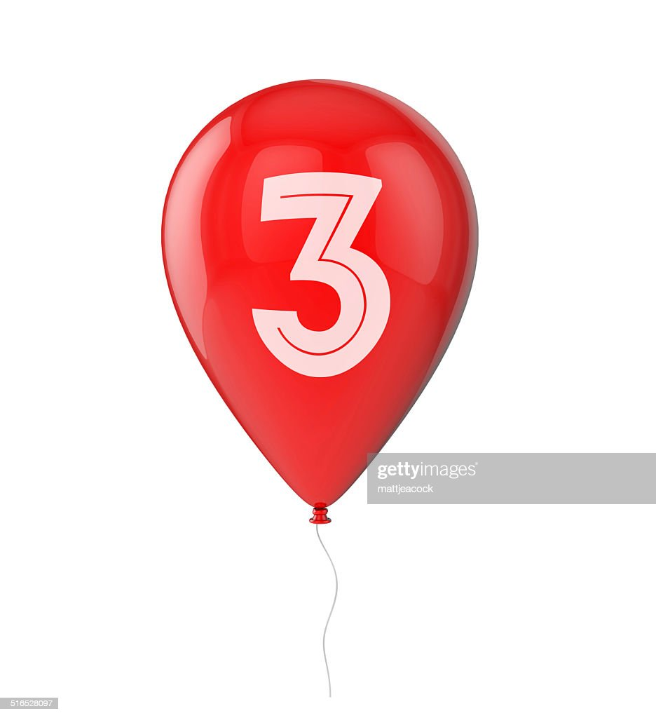 3rd Birthday Balloon Stock Photo Getty Images
