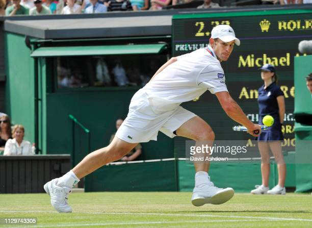 WIMBLEDON 2010 3rd DAY 23/6/2010 ANDY RODDICK DURING HIS MATCH WITH MLLODRA