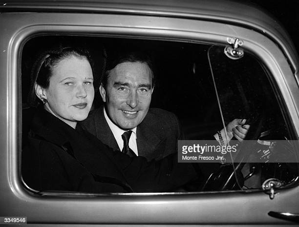 England cricketer and Arsenal footballer Denis Compton leaving University College Hospital after a knee operation