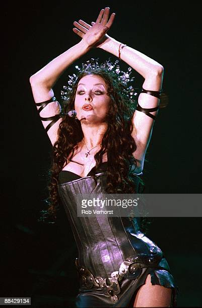 English singer Sarah Brightman performs live on stage at Ahoy in Rotterdam Netherlands on 3rd December 2000