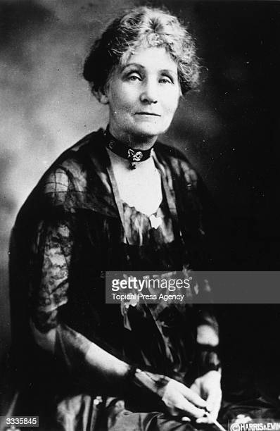 Emmeline Pankhurst leader of the women's suffrage movement and voted prospective Conservative candidate for Whitechapel and St George's