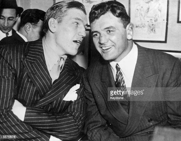 Tommy Farr British Heavyweight Champion and James J Braddock known as the 'Cinderella Man' who became World Heavyweight Champion in 1935 in New York