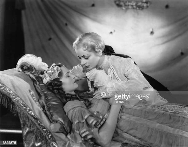 Evelyn Baye as 'Prince Florizel' and Hazel Jennings as 'Princess Beauty' during a production of 'Sleeping Beauty' at the Theatre Royal Birmingham...