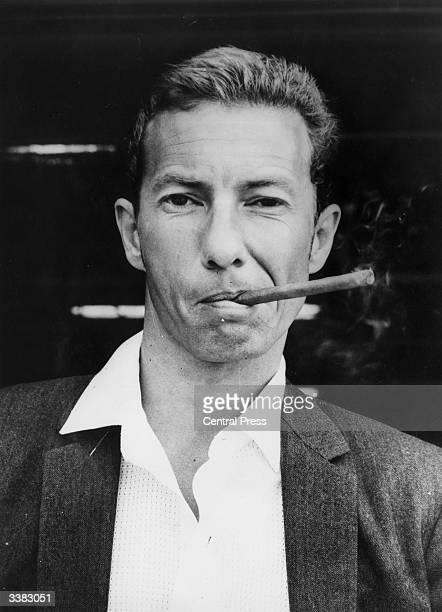 British jockey Lester Piggott smoking a cigar in Melbourne Australia