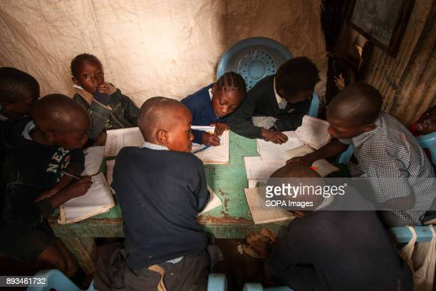 3rd grade students during math class Ngota's Upendo Primary School is a small school located in the heart of Mathare Slum Kenya's second biggest slum...