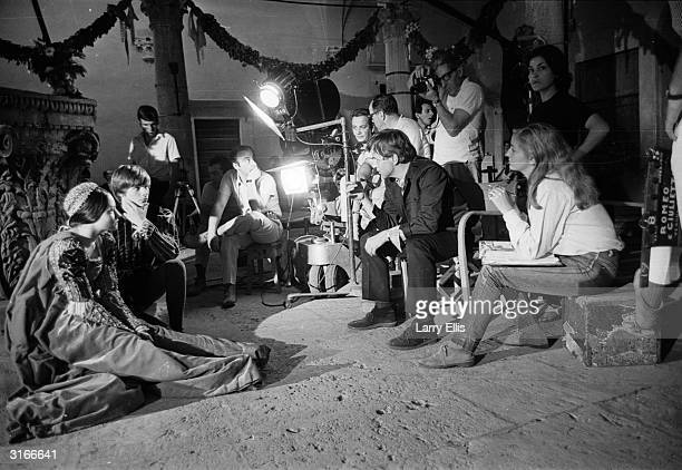 Franco Zeffirelli directs English actors Olivia Hussey and Leonard Whiting in a screen version of Shakespeare's 'Romeo and Juliet'