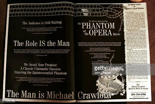 3Rd July 1999 Garden Grove California ' The Michael Crawford Phantom Movie Campaign' Two Page Advert In Hollywoods Top Trade Mag ' Variety'